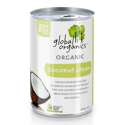 3 X Global Organics Coconut Cream Organic (can) 400g