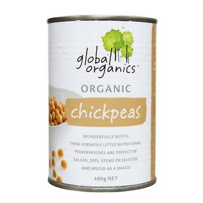 3 X Global Organics Chick Peas Organic (canned) 400g