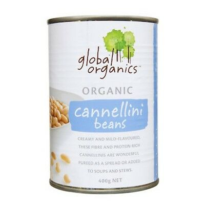 3 X Global Organics Beans Cannellini Organic (canned) 400g