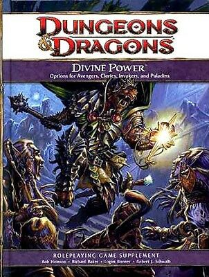 DIVINE POWER NM!  4E Dungeons Dragons D&D Hardcover 217907200 4TH ED.