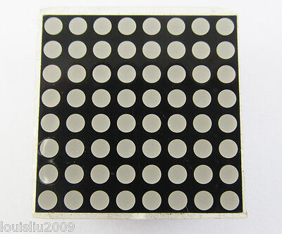 50 pcs 8 x 8 Dot Matrix 3mm Red LED Display Common Anode