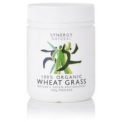 6 X Synergy Wheat Grass Powder Organic 200g - IN STOCK - SHIPS TODAY!
