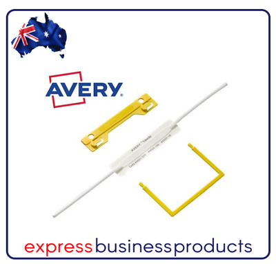 Avery Tubeclip Fastener Yellow Box of 100 - AD44009Y