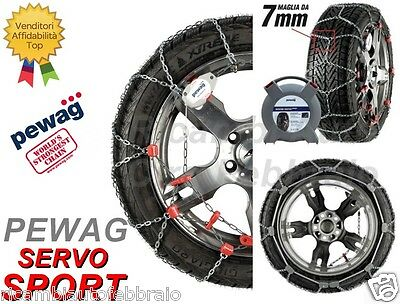 Catene Neve 7mm PEWAG SERVO SPORT RSS69 VW New Beetle Cabrio Gomme 195/65R15