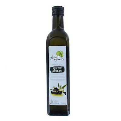 6 X Global Organics Oil Olive Extra Virgin Organic 500mL