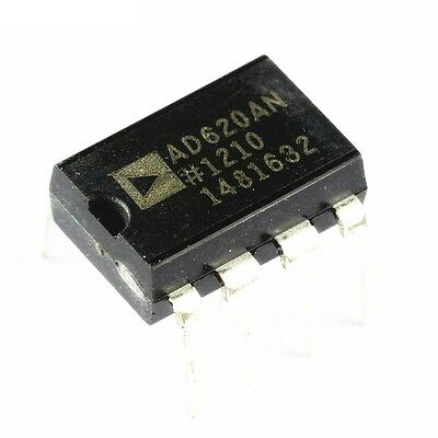 2PCS AD620 AD620AN DIP-8 Instrumentation Amplifier IC New