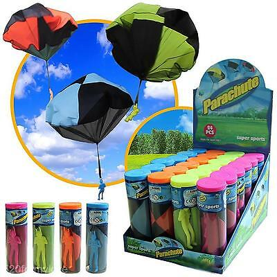 Kids Children Tangle Free Parachute Skydiver Outdoor Funny Play Game Toy Gift