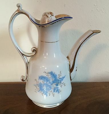 Antique Porcelain Tea Turkish Coffee Pot 19th century Paris Cornflower