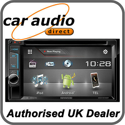 """Kenwood DDX4016BT 6.2"""" WVGA Touch Screen Double Din Tuner BT/ CD/ MP3/ USB/ DVD"""