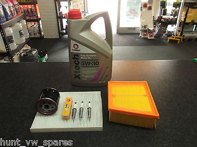 Ford Fiesta Mk7 Service Kit Oil Air Cabin Filters Ngk Spark Plugs 5 Litres Comma