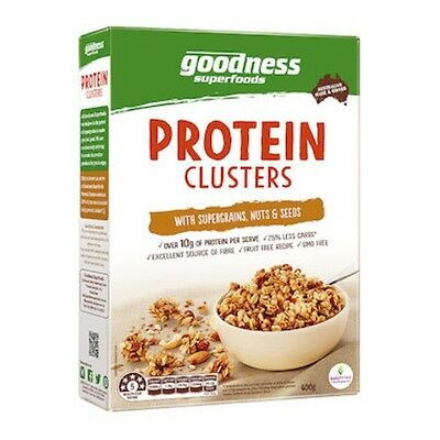 12 X Goodness Superfoods Cereal Protein Clusters 400g