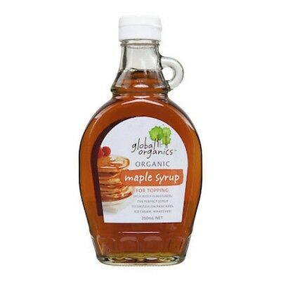 12 X Global Organics Maple Syrup Organic 250mL