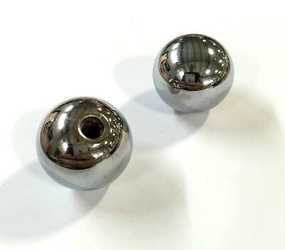1967-1978 C3 Corvette Seat Adjuster Knobs Chrome Metal Balls Pair