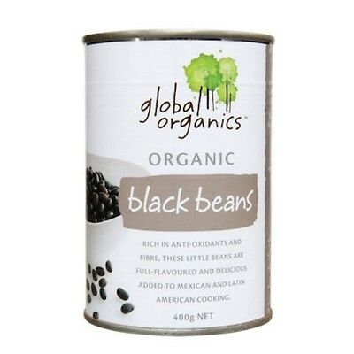 12 X Global Organics Beans Black Organic (canned) 400g