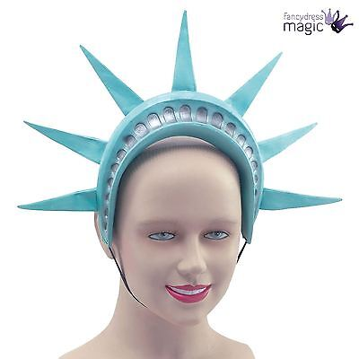 Statue Of Liberty Crown Headpiece American USA New York Headband Fancy Dress Hat