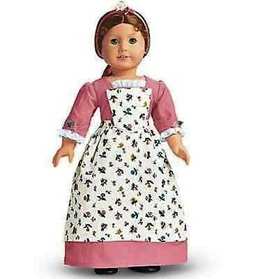 American Girl Felicity's Spring Pinner Gown Dress Birthday Outfit New In Box