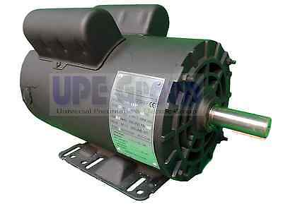 "5 HP  Electric Motor 3450 RPM Air Compressor  56 Frame 1 Phase 7/8"" Shaft 230VAC"