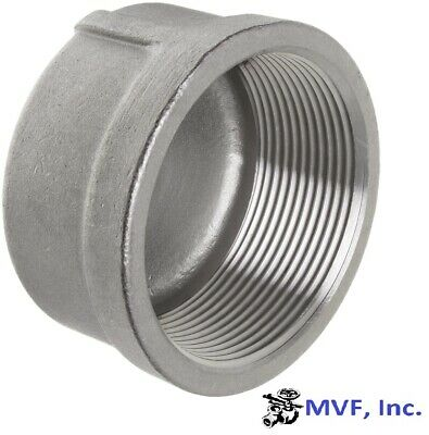 """Cap 150# 304 Stainless Steel 3/4"""" Npt Pipe Fitting             <839Wh"""