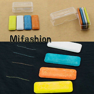 4pcs Tailor's Fabric Chalk Dressmaker Tailor Pattern Marking Marker Sewing Craft
