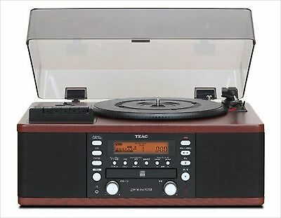 TEAC CD Recorder with Turntable / Cassette Player LP-R550USB-WA (Walnut)