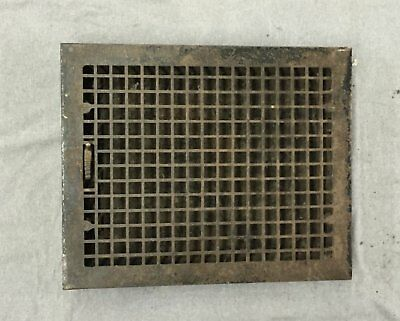 Antique Large Cast Iron Heat Grate Vent Register Old Vtg Hardware 20x15 989-16