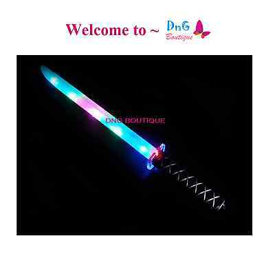 Ninja Pirate Light Up Buccaneer Sword LED With Motion Activated Sound Flashing