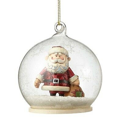 Rudolph Traditions Santa in Globe Hanging Ornament by Jim Shore, New, 4053080