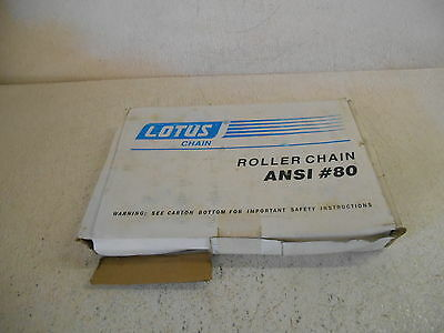 Lotus 10Ft Roller Chain, Ansi #80, New