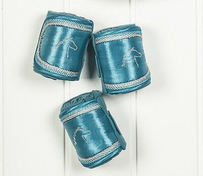 NEW SEASON! HKM EXCLUSIVE BANDAGES IN PETROL OR DEEP BLUE SIZE 300cm HORSE