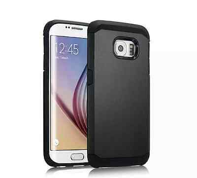 Black Case For Samsung Galaxy S6 Armor Shockproof Back Cover