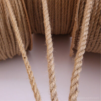 6,8,10mm Natural Jute Hessian Rope Cord String Cord Twine Art Craft DIY 50-500m