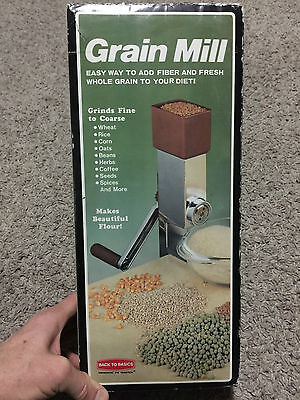 Back To Basics Grain Mill 550 Adjustable Fine-Coarse Table Counter Mount Grinder