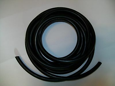 "15 Continuous Feet 3/16 ID 5/16 OD Latex Rubber Tubing Black 1/16"" wall Surgical"