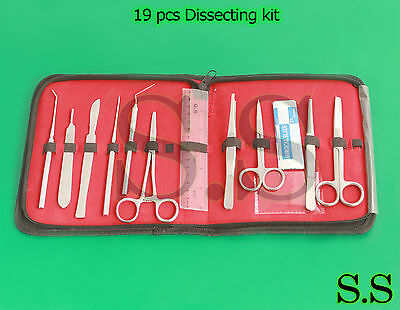 19 pcs Dissecting kit / Dissection Kit / Anatomy Kit for Medical Student DS-1260
