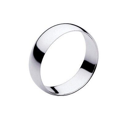 Mens / Womens Silver Chrome stainless Steel Wedding band Ring 7mm wide 316l UK O