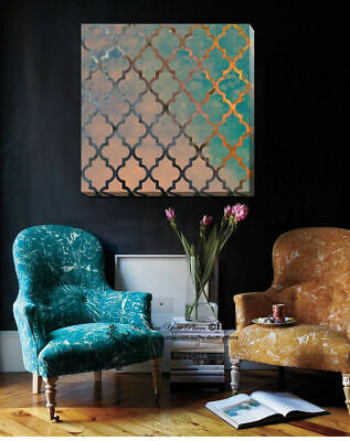 Abstract Vintage Stretched Canvas Print Framed Wall Art Home Office Decor Gift