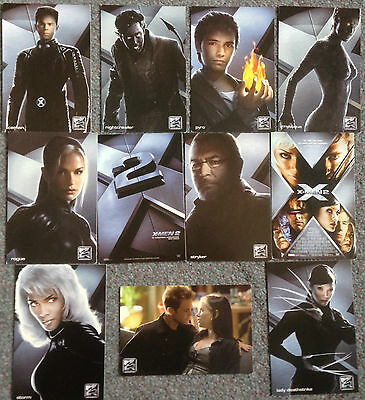 Lot Of 11 Official Postcards For X Men 2