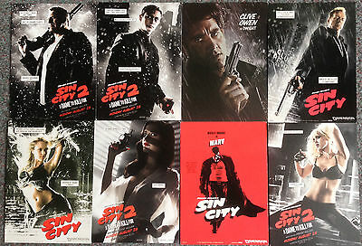 Lot Of 8 Official Postcards For Sin City Films