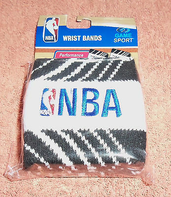 NBA : Black and White Wristbands - Pack of 2 - New