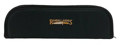 "RANDALL KNIFE CASE with SHEATH STRAPS & EMBROIDERED LOGO - 17"" BLACK - USA MADE!"