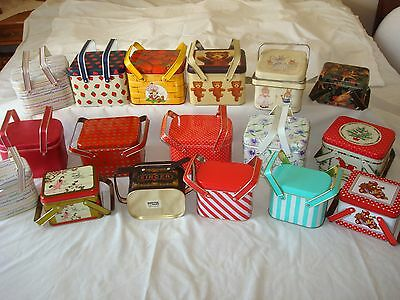 Lot of Metal/Tin Picnic Lunch Boxes