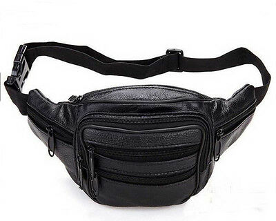 New Travel Leather Bum Bag  Waist Belt Fanny Pack Holiday Festival Money Pouch