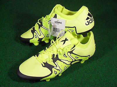 New Mens Adidas X 15.2 FG/AG Soccer Cleats Boots Electric Yellow Black B26933