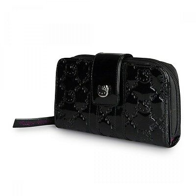 NWT Loungefly Hello Kitty Black Embossed Faux Patent Leather Wallet