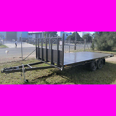 16x8 table top tandem trailer flatbed heavy duty trailer 4880x2440 2800kg ATM