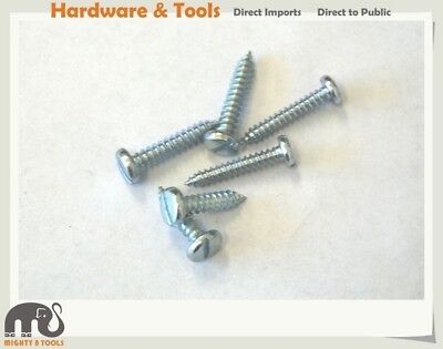 "1000pc Zinc Plated Self Tapping Screws Slotted Pan Head: 10x3/4"" /8x1"" /10x1"""