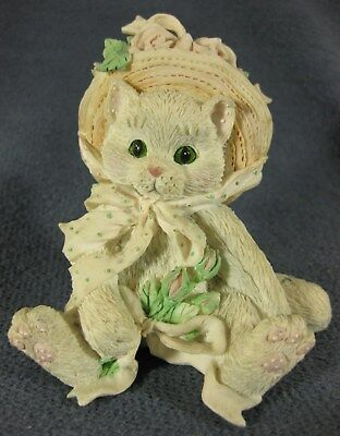 Calico Kittens Our Friendship Blossomed From The Heart #627887 Figurine 1992