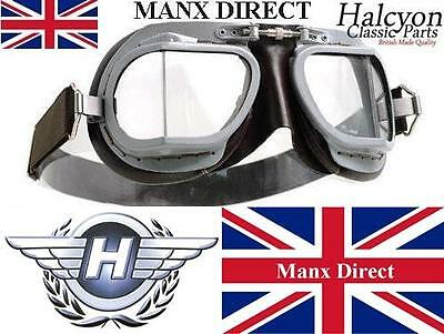 Brown Halcyon Mark Mk 9 Superjet Goggles Hand Made Flying Car Trike Motorcycle