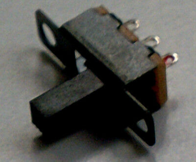 Miniature Slide Switch SPDT ON-ON 50V 0.5A 500mA. Pack of 1, 6 or 10. FREE POST