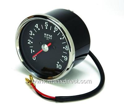 Smiths Style Black Face Tachometer Rev Counter 4.1 Ratio Triumph Bsa Norton Etc